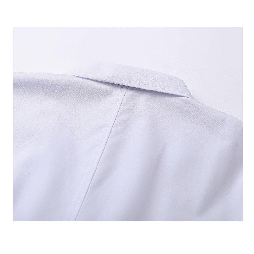 shane/&shaina Maniche Corte Lungo Paragrafo Indumenti da Lavoro Bianco Cappotto Dottore lInfermiera Abbigliamento