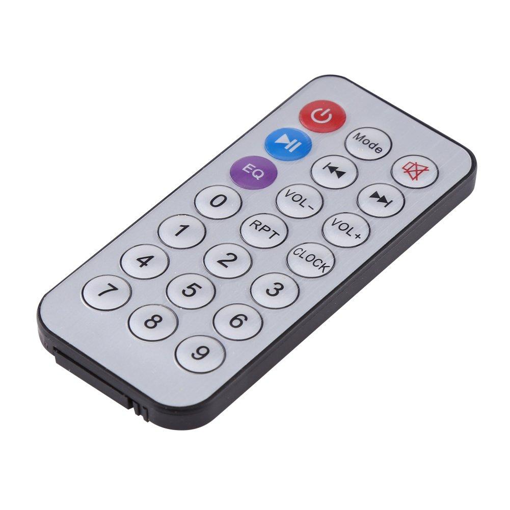 Decodificador de MP3 WMA con Control Remoto Tarjeta de Decodificador con Pantalla LED M/ódulo de Decodificador de Audio USB TF para Coche