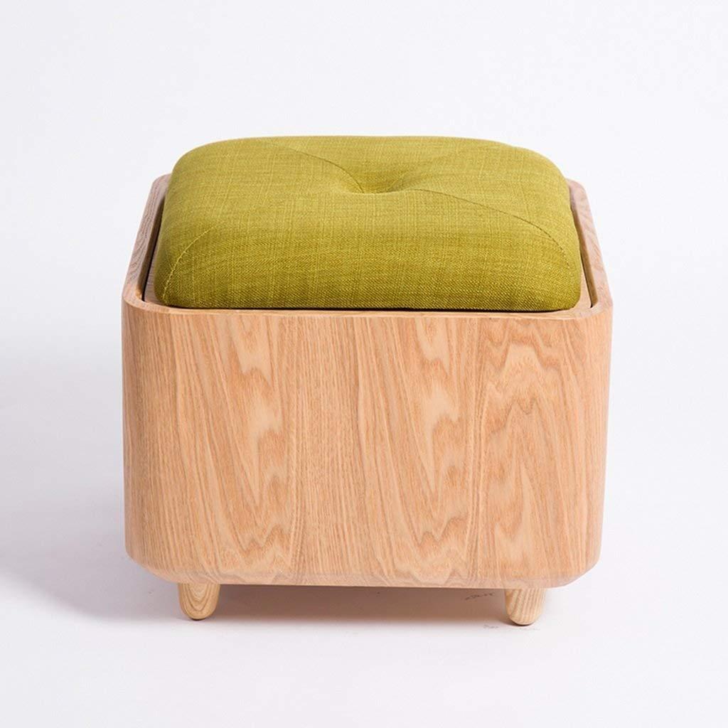 ZDXMZ Stools Wood Shoes Fabric Storage Versatile Can Take The Creative Minimalist (Color : B) by ZDXMZ