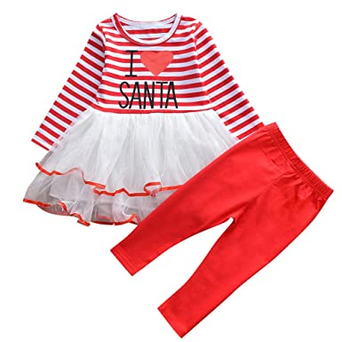 Sunenjoy Bébé Filles Princesse Cerf Imprimer Rayé Tops Genou-Longueur Robe  + sous-vêtements f504a4375f8