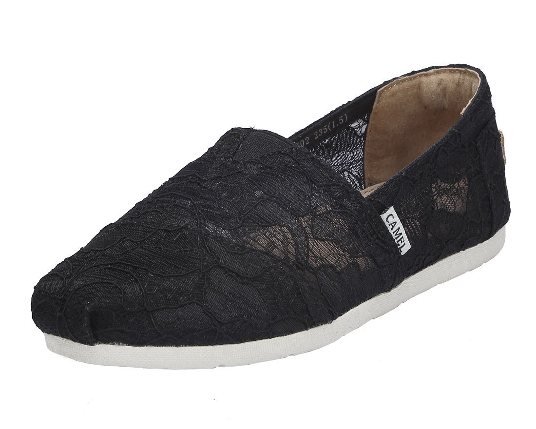 Camel Women's Slip on Shoes Classic Casual Flats Mesh Comfort Loafers Color Black Size 8