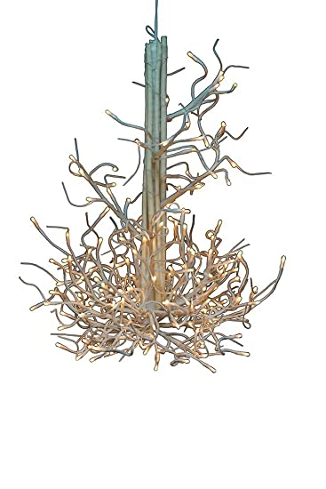 branch chandelier lighting. Hi-Line Gift Ltd Floral Lights 176-Light Twig Chandelier Branch Lighting Y