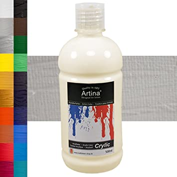 Artina Crylic Acrylfarben - hochwertige Künstler-Malfarbe in 500 ml ...