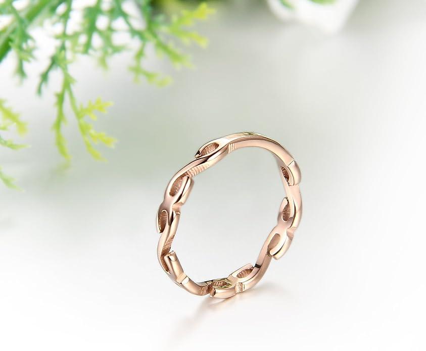JewelryWe Joyería Anillos Para Mujer Joven, Acero Inoxidable El ...