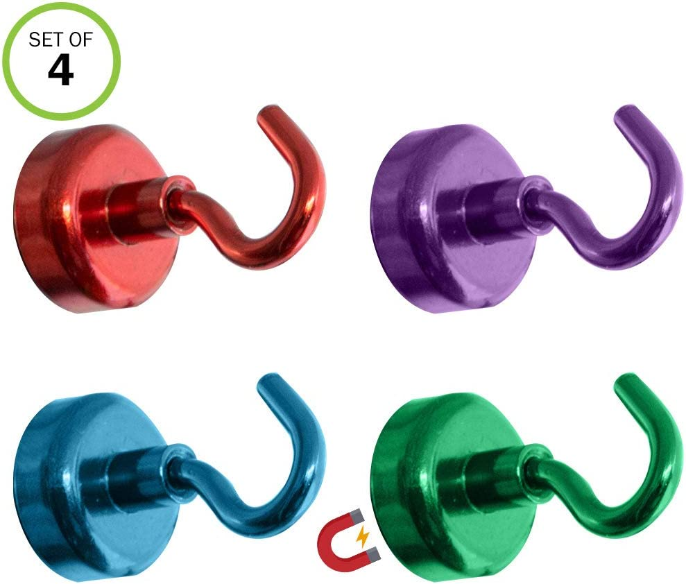 Evelots Magnetic Hooks-Super Strong-Powerful-Filing Cabinet/Refrigerator-Set/4