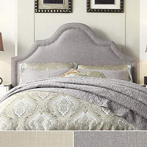 iNSPIRE Q Fletcr Linen Nailad Arch Curved adboard by Bold Full