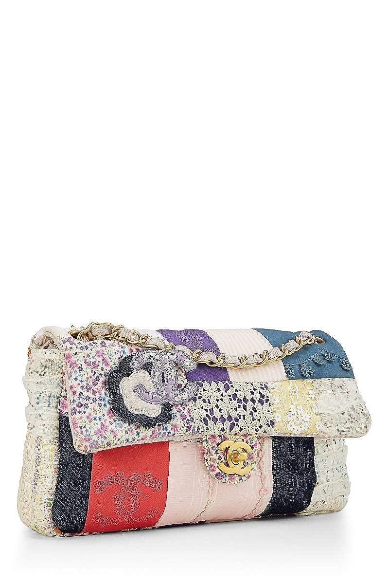 736dc9cc7e87 CHANEL Multicolor Patchwork Half Flap Medium (Pre-Owned): Handbags:  Amazon.com