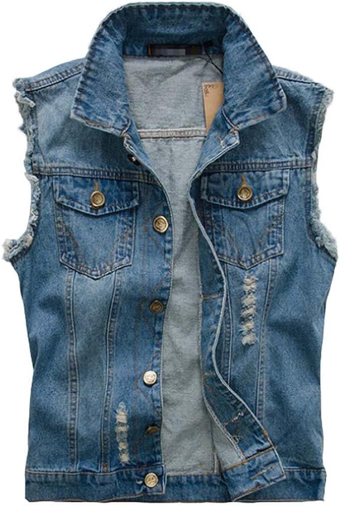 Klassisch Damen Denim Weste Weste Jeans Ärmellose Jacke Top Freizeit