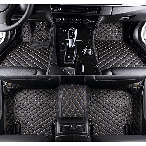 kaifeng for Dodge Charger 2011-2017 Car Floor Mats Custom Fit All-Weather 3D Covered Car mat Carpet FloorLiner Floor Auto Mats (Black Beige, 2013)