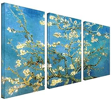 PARA MAYOR 3 piezas Diseño de almendro en diseño de 54 x 36 de Vincent Van
