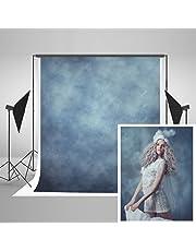 KateHome PHOTOSTUDIOS 1,5 × 2,2m Toile de Fond Photographie Bleu Photo Arrière-Plans Arrière-Plans Abstraits Portrait Texture Toile De Fond en Microfibre pour Accessoires De La Photographie Photo