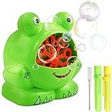 Gifort Seifenblasenmaschine,Neuer großer Augenfrosch Tragbare Seifenblasenmaschine Kinder,in Buntem Design für Kinder & Erwachsene - Ideal für Hochzeit, Deko, Kindergeburtstag (Frosch)
