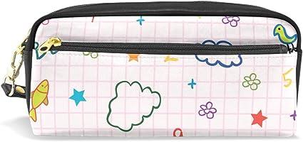 Estuche escolar con patrón de dibujo, para estudiantes, papelería, lápices, estuche, bolsa para la escuela, oficina, organizador de almacenamiento: Amazon.es: Oficina y papelería