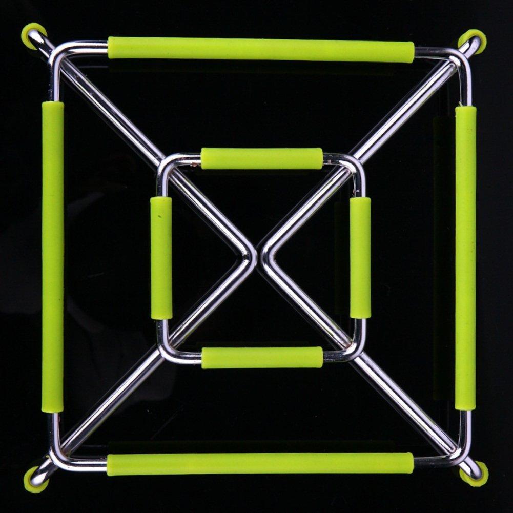 ZHAS Stainless steel silicone hot pad/dining desk mats/mat/Bowl mat/Place mat/pot mat/-hot kitchen mat-A 16.5x16.5cm(6x6inch)