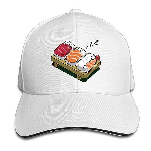 41ebb6f7e850c Amazon.com  Kawaii Sleeping Sushi White Unisex Sandwich Snapback Cap  Adjustable (6201904099150)  Books