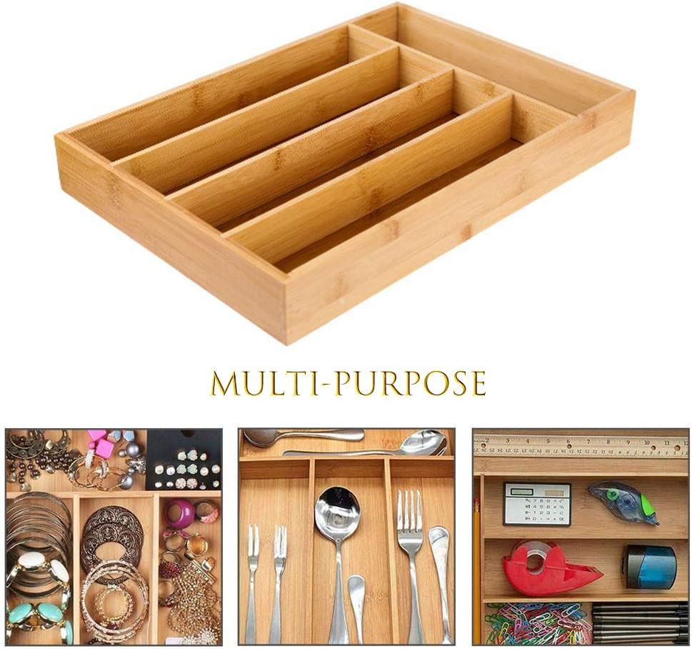 Cutlery Tray Cutlery Drawer Insert Cutlery Drawer Wooden Box Cutlery Tray For Bamboo Drawers