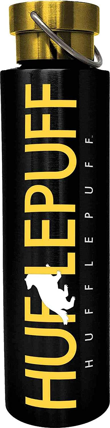 Spoontiques Hufflepuff Stainless Steel Bottle, 24 oz, Black