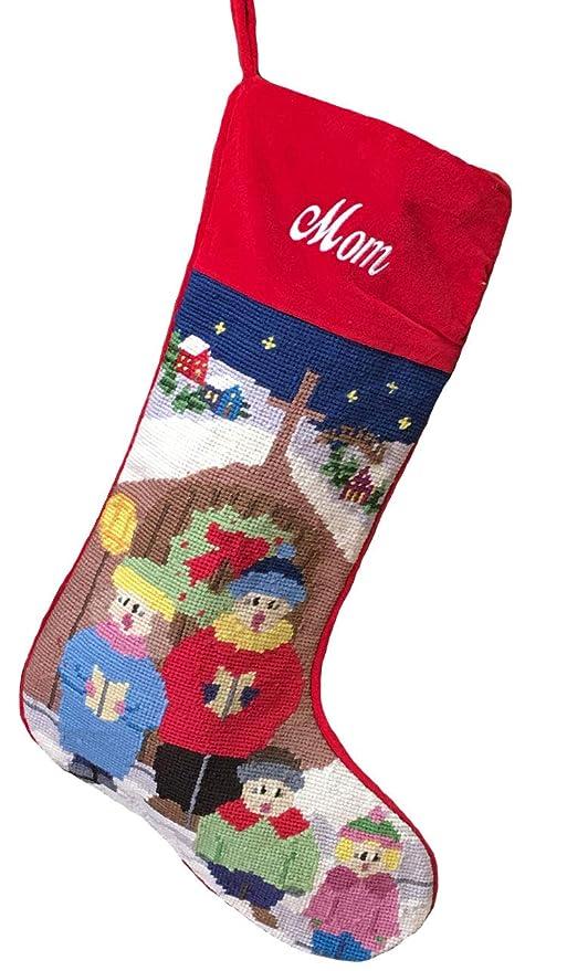 Needlepoint Christmas Stockings.Needlepoint Christmas Stocking The Carolers