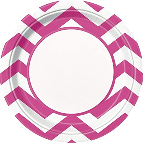 NANAS PARTY Mantel de cheurón Rosa Caliente {único} (Fiesta ...
