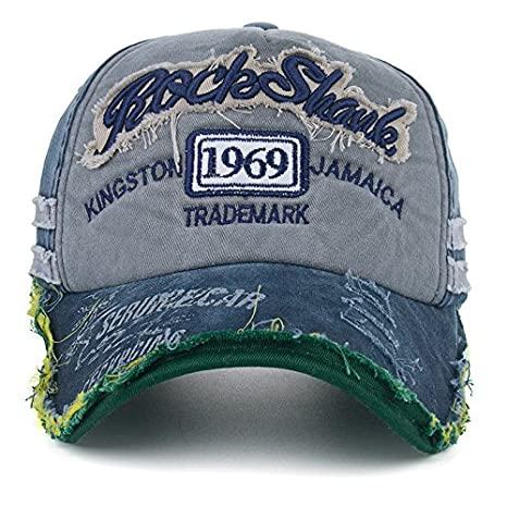 616f8edd97d Buy Handcuffs Unisex Denim Vintage Baseball Cap (Blue) Online at Low Prices  in India - Amazon.in