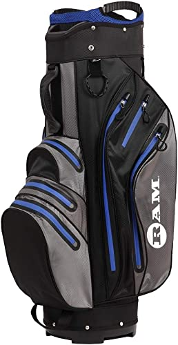 RAM Golf Waterproof Cart Bag – 14 Way Club Dividers