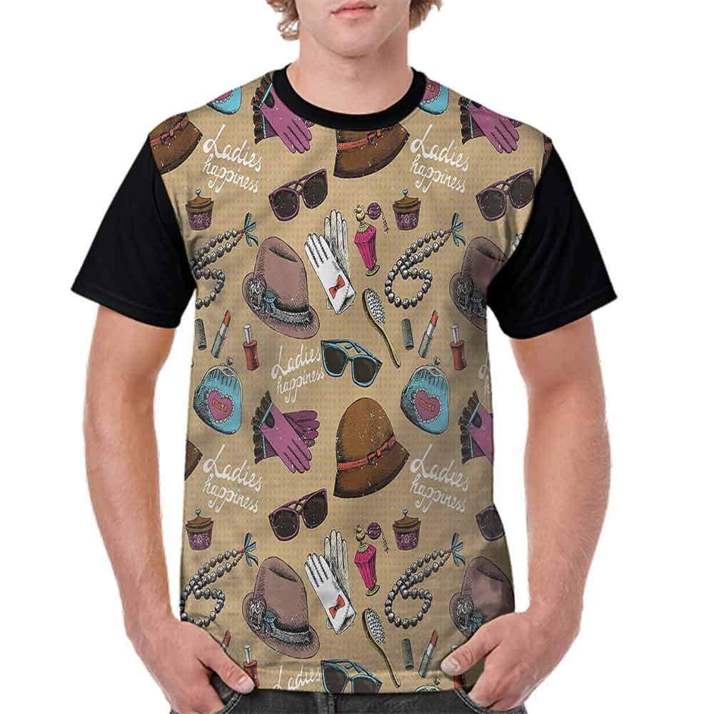 Classic T-Shirt,Retro Post Stamp Design Fashion Personality Customization