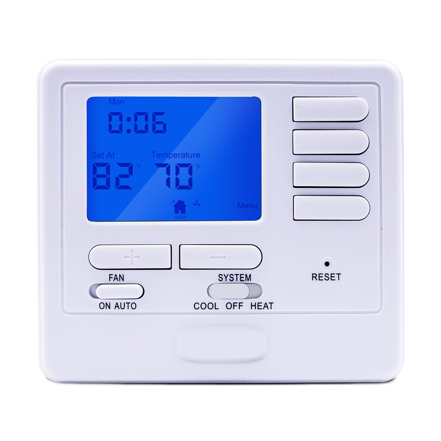 Briidea S715 Universal 5-1-1 Day Programmable Thermostat, 2C/2H with Dual powered