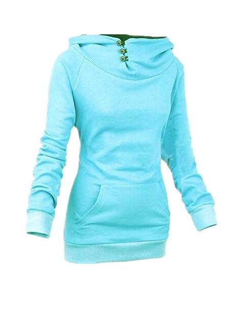 Aoliait Sudadera Con Capucha Mujeres Hoodie Elegantes Cuello Alto Guays Camiseta Con Manga Larga Camisa Blusa T-Shirt Pullover Joven: Amazon.es: Ropa y ...