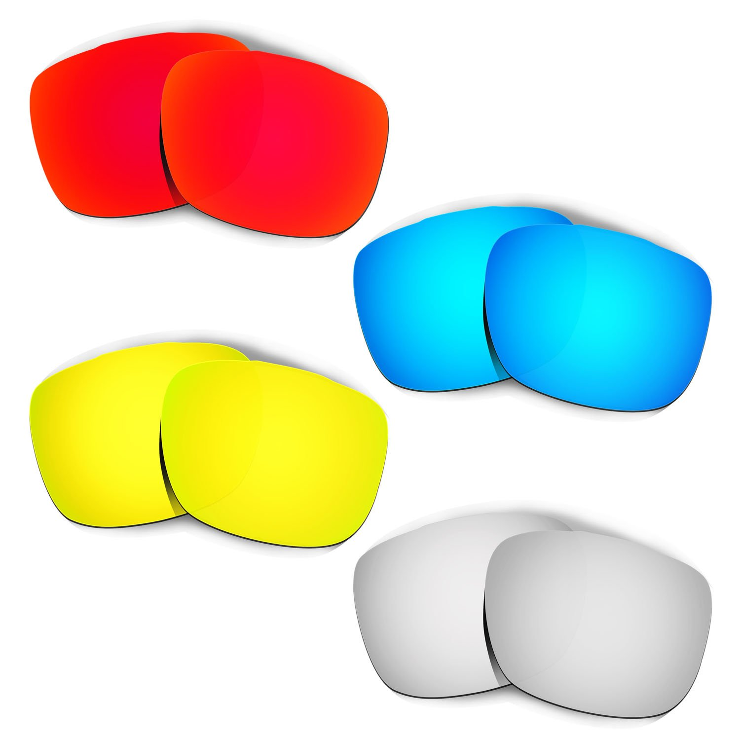 Hkuco Plus Mens Replacement Lenses For Oakley TwoFace Red/Blue/24K Gold/Titanium Sunglasses