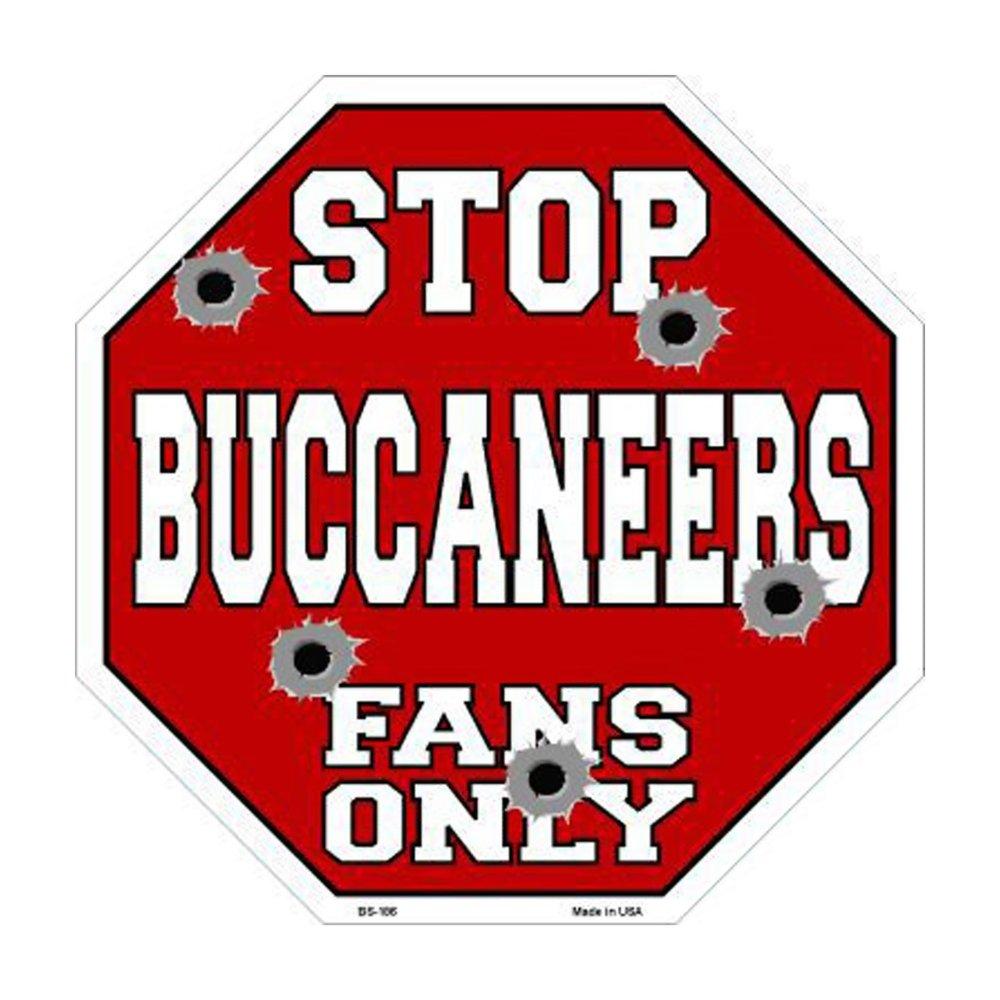 スマートブロンドBuccaneersファンのみメタルノベルティOctagon Stop Sign bs-186 B01BSKLOHI 29802