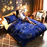 New Style Flannel Bedding Sets - 3D Printing Textile - Keep Warm in Deep Winter and High Density - Love Your Bedding Sets