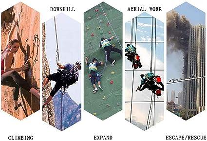 Hewei - Cuerda de escalada (10 m, guía de rescate para ...
