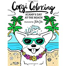 Corgi Coloring: Scamp's Day at the Beach