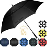 Heasy Golf Umbrella 58/62/68 Inch Large Windproof Waterproof Oversize Double Canopy Extra Sturdy Automatic Stick…