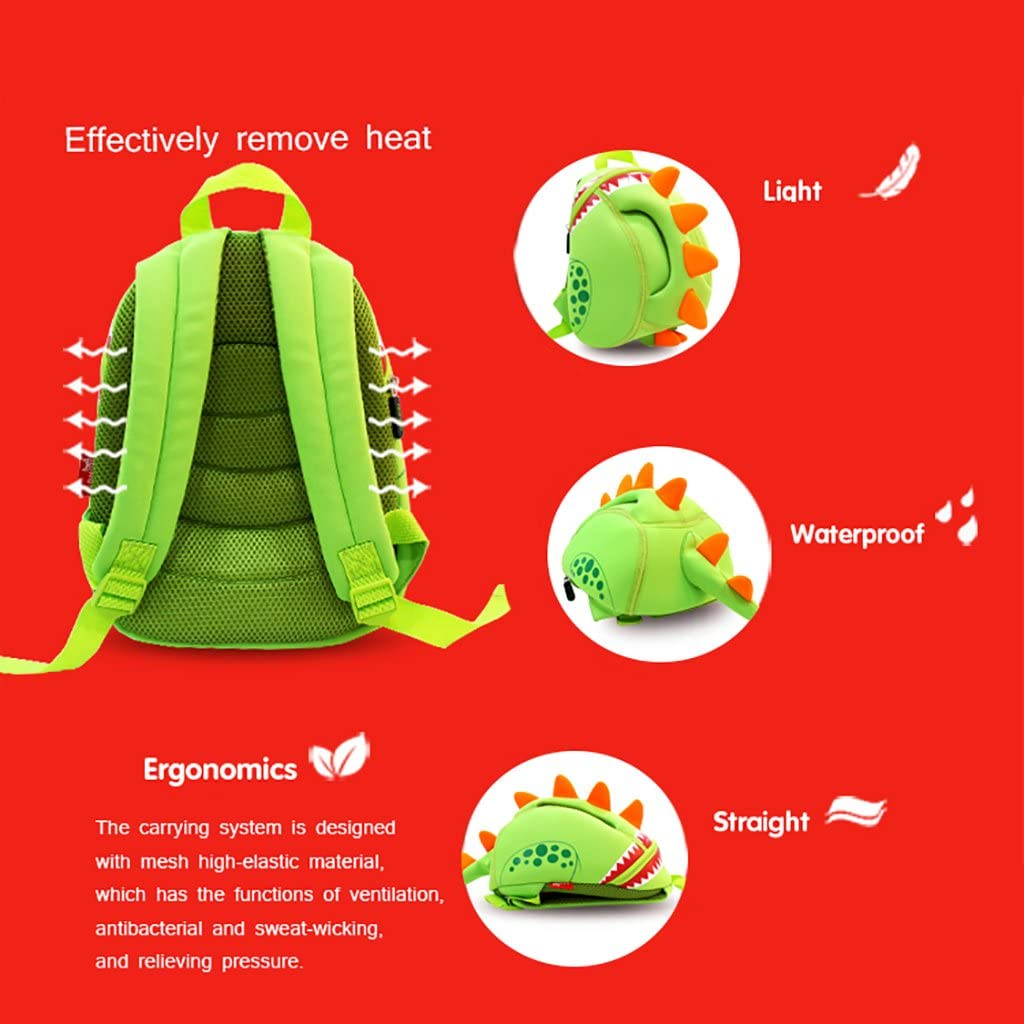 Waterprool Travel Shoulder Bag JLRQY Kids 3D Backpack Cute Animal Backpack For 1-5 Years Old Childrens Kindergarten School Bag
