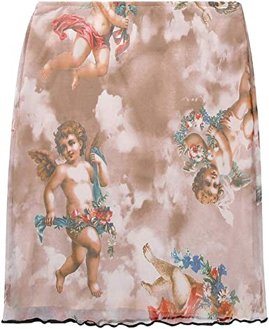 Qijinlook 💖Falda Tubo Mujer/Cupido/ángel/Mitologia Griega, Falda ...
