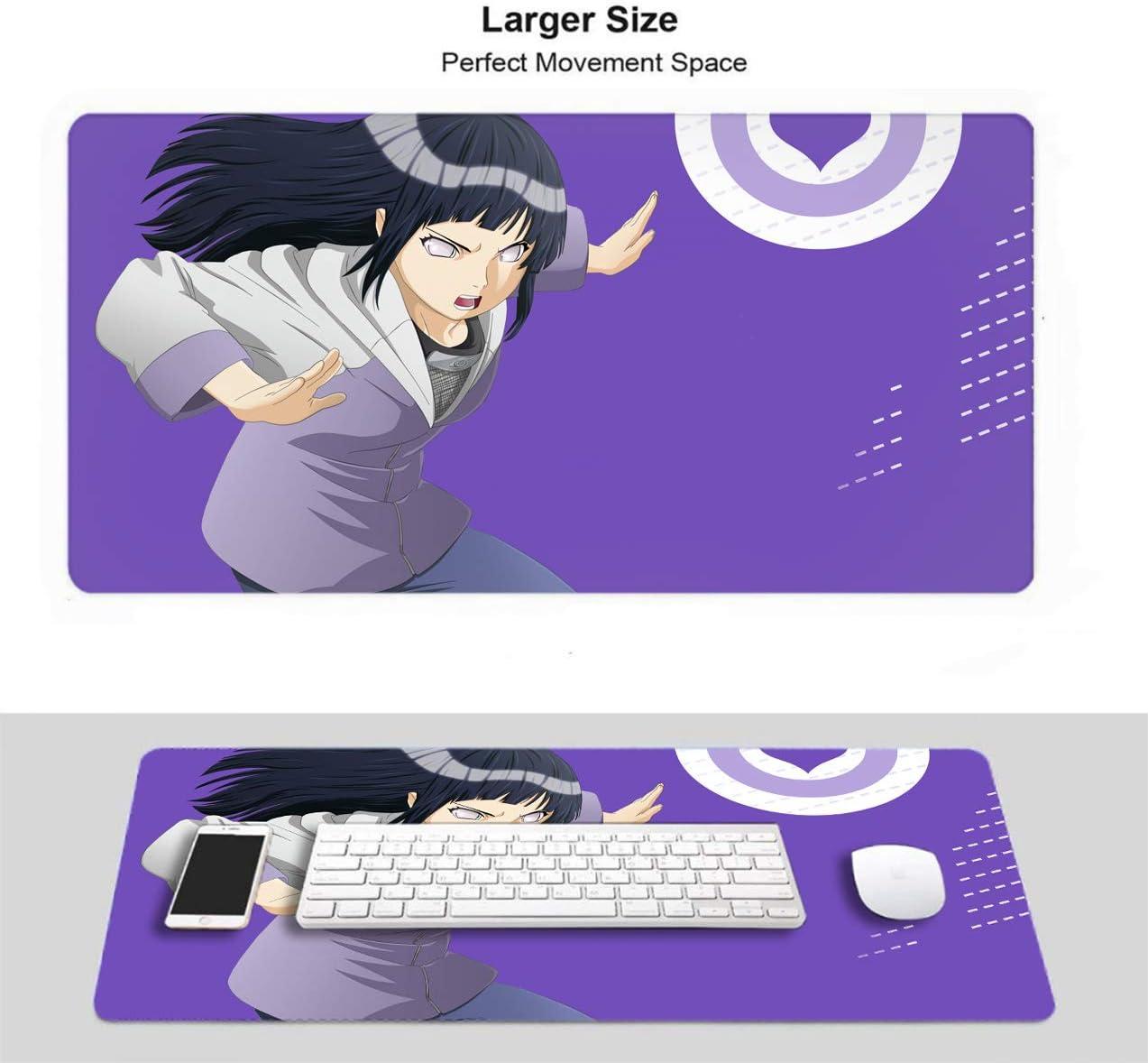 Large Gaming Mouse Pad Computer Keyboard Mouse Mat for Uzumaki Naruto Sasuke Custom Design Waterproof Non-Slip Rubber Anti Slip Rubber Base-11.8x31.5x0.2 in