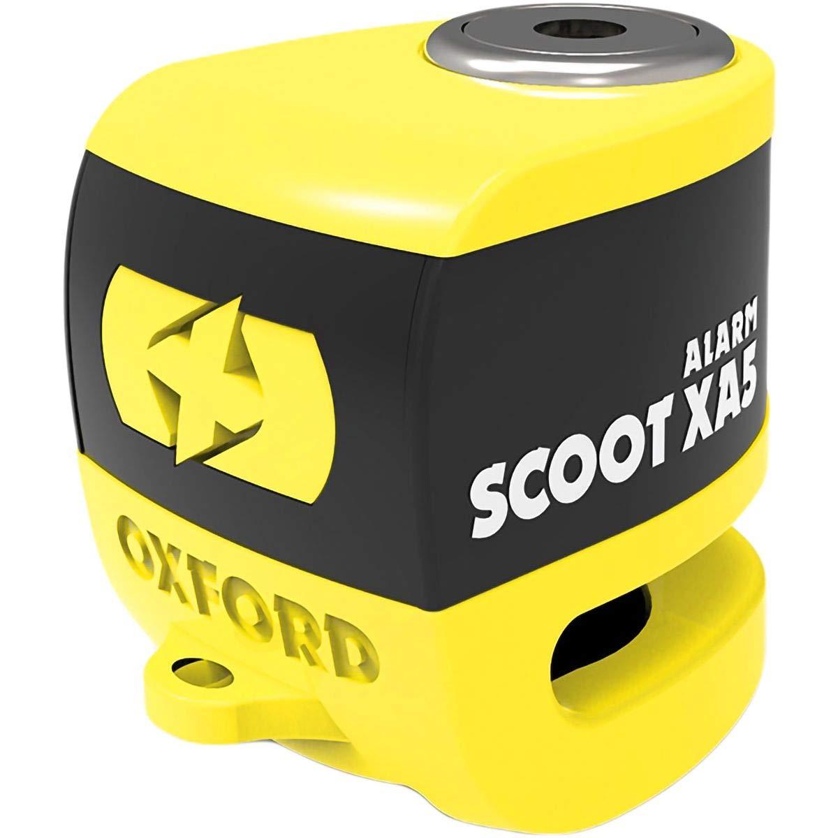 Oxford LK287 Yellow//Black Scoot XA5 Alarm Disc Lock