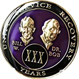 30 year AA Medallion Purple Tri-Plate Founders Bill & Bob Chip XXX