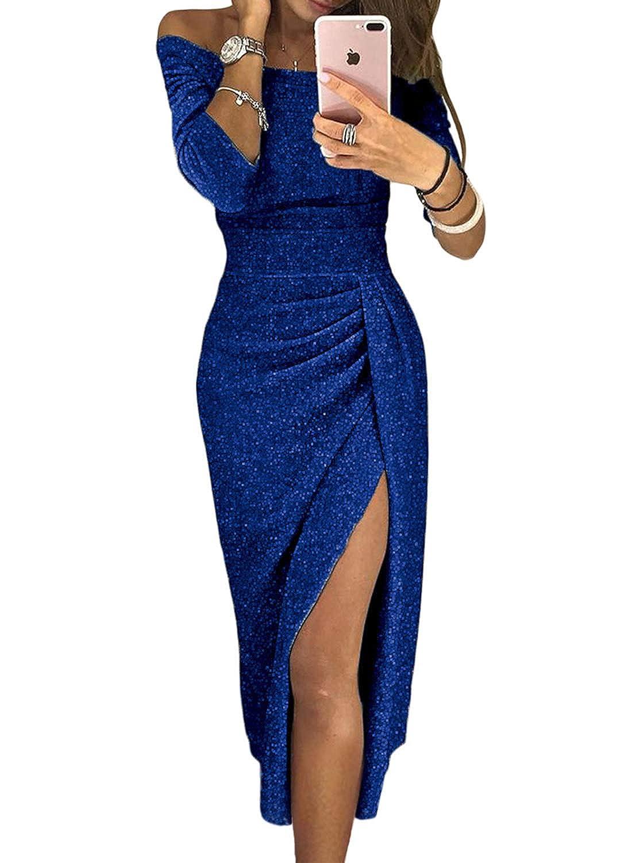 a14564874 Aleumdr Mujer Vestido de Noche Falda Elegante para Fiesta Vestido de Moda  Size S-XXL: Amazon.es: Ropa y accesorios