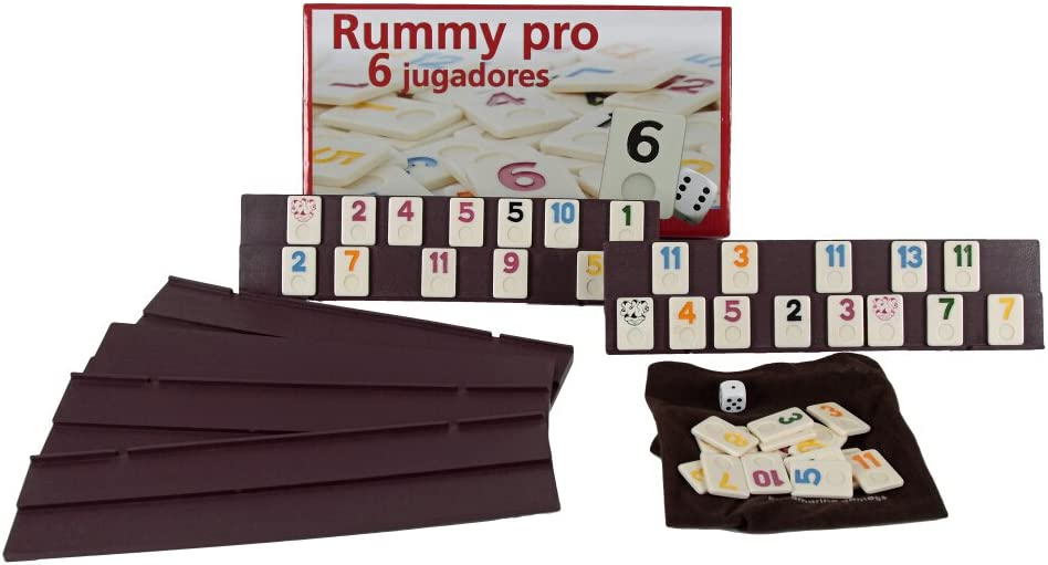 Aquamarine Games - Rummy, 6 Jugadores (DO001): Amazon.es: Juguetes ...