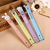 Katoot@ 8 pcs/lot 15cm Cartoon animals ruler Kawaii black cat straigh ruler plastic Measuring tool cute stationery office school supply