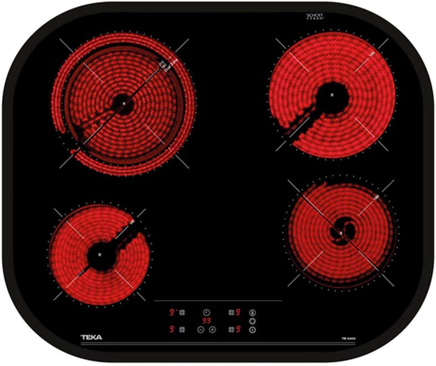 Teka | Placa Vitrocerámica | Modelo TC 6400 | 4 zonas Touch Control | Negro | 60CM