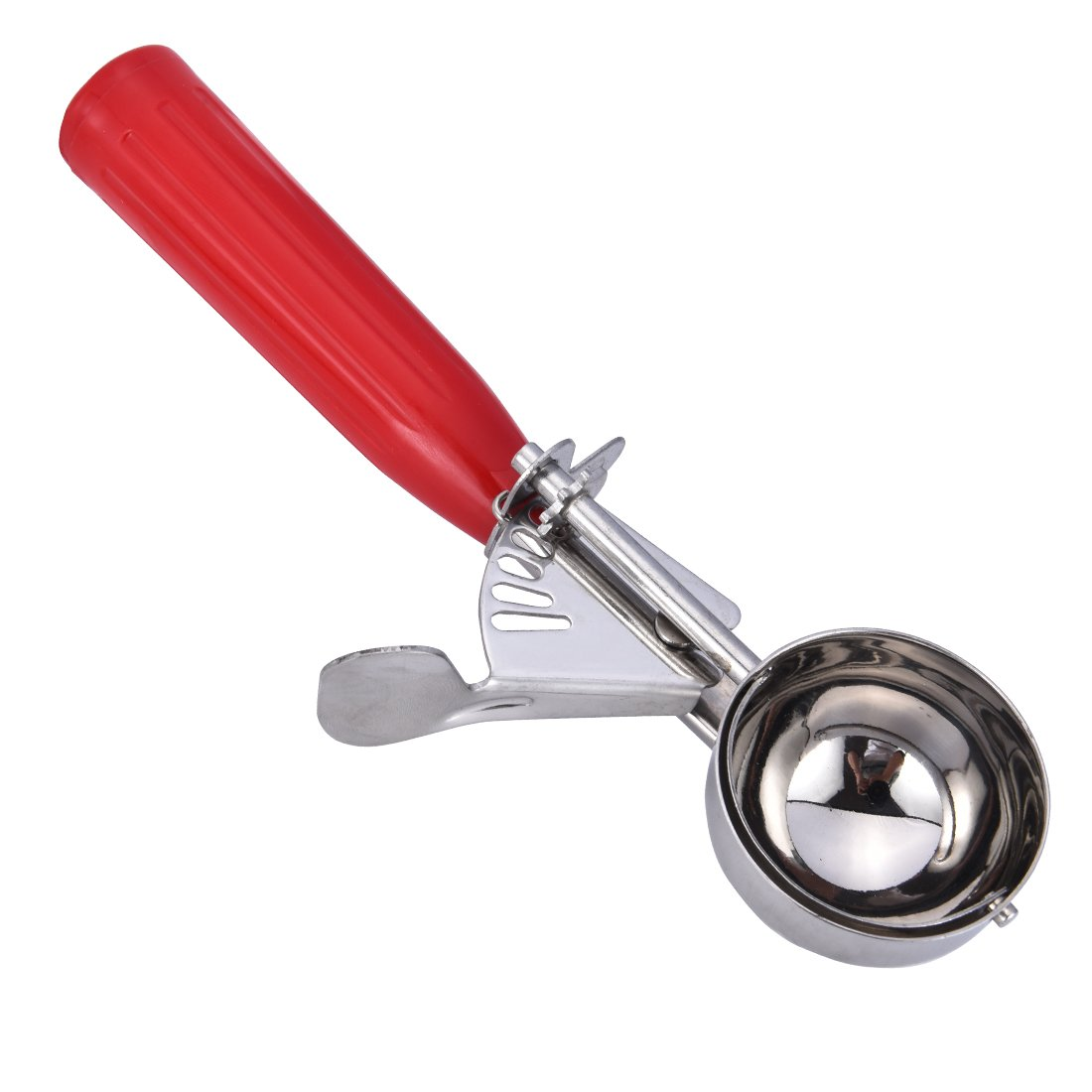 Ice Cream Scoop, Stainless Steel Scoop with Non-Slip Red Handle---(Medium) by N.E (Image #3)