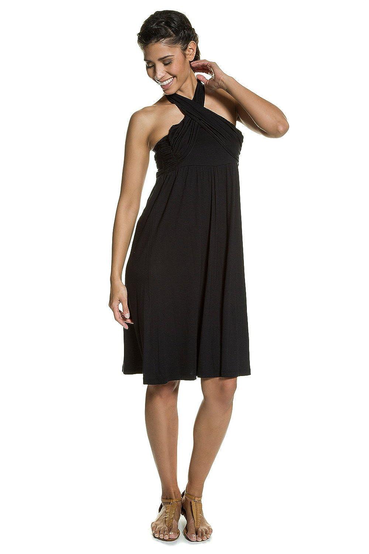 GINA_LAURA Damen | 2in1-Kleid | Neckholder & Bandeauform | ärmellos | locker geschnitten | Jersey | bis Größe XXL | 711071