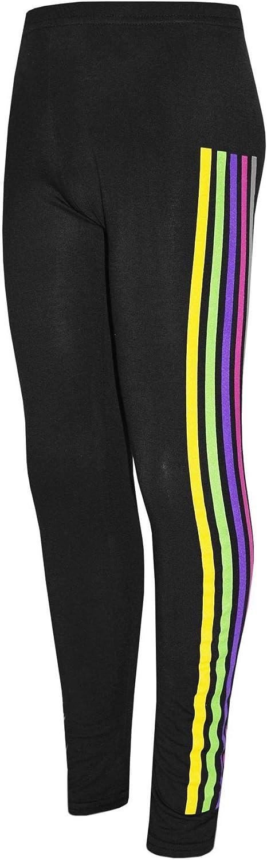 Kids Girls Tracksuit Unicorn Rainbow Dab Floss Black Top Legging Sets 7-13 Years