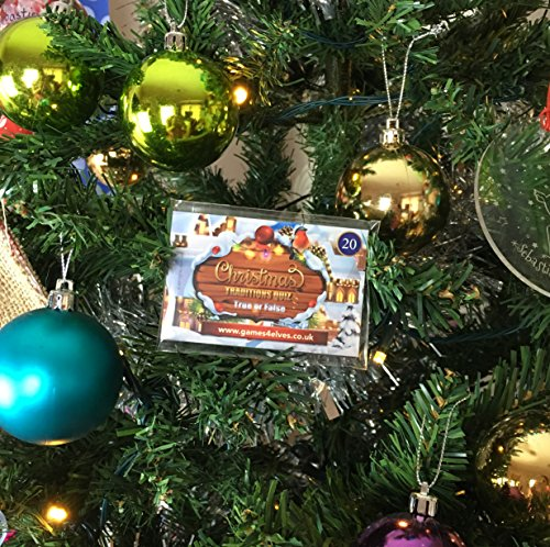 Christmas Traditions Game Pocket Quiz Trivia - 20 True or False Christmas Games Question Cards ...