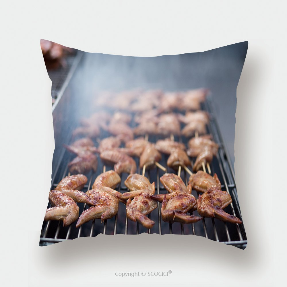 Custom Satin Pillowcase Protector Street Food Thai Barbecue Grilled Chicken_509003165 Pillow Case Covers Decorative by chaoran