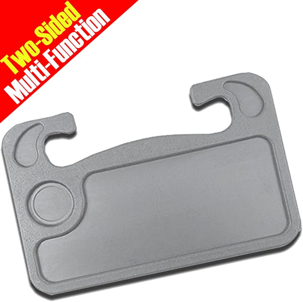 Lightter Wheelmate Car Table Steering Wheel Tray and Vehicle Seat Mount Notebook Laptop Eating Desk,Car Food Eating Tray,Gray