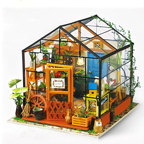 NWFashion Assemble Wooden/Plexiglass Kits DIY Room Full Of Sunshine (Casey Greenhouse) (Greenhouses Sunshine)